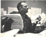 Tony Hillerman at work