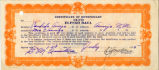 Certificate of Beneficiary, front