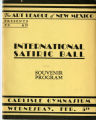 Souvenir Program for the International Satiric Ball