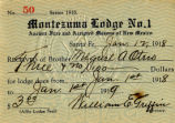 Masons of New Mexico membership card