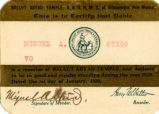 Ballut Abyad Temple membership card