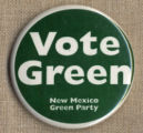New Mexico Green Party Campaign Button