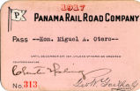 Panama Rail Road Company pass
