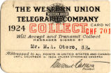 The Western Union Telegraph Company card