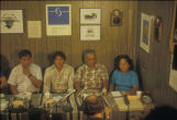 Hopi woman and men gathered for the Hopi and Dine  Neighborship Press Conference