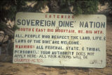 Sign at Resistance Camp, Big Mountain, AZ