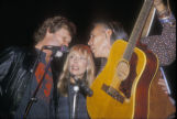 Chris Kristofferson, Joni Mitchell, Floyd Westerman performing at the Cowboys for Indians and...
