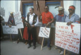 Oron Lyons, Larry Anderson, Bahi  Keediniihi, Big Mountain Defense March, Santa Fe, NM