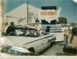 Mrs. Fred Harris Campaigning from White Convertible