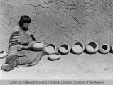 Maria Martinez With Bowls