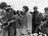 Oren Lyons [center] and AIM Members at Wounded Knee Occupation