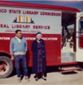 Dorothy Pillsbury with Bookmobile