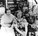 Mabel Dodge Luhan with Frieda Lawrence and Dorothy Brett (right to left)