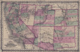 Map of California, Nevada, Utah, Colorado, Arizona, & New Mexico