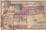 Map of the United States, Kansas, and the Territories of Arizona, Colorado, New Mexico, Utah, and...
