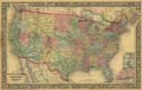 Map of the United States and Territories, 1863