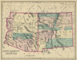 Map of New Mexico and Arizona, 1874