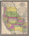 A New Map of the State of California, the Territories of Oregon, Washington, Utah, and New Mexico,...