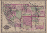 Map of California, also Utah, Nevada, Colorado, New Mexico, and Arizona, 1866