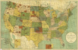 Map Showing Indian Reservations Within the Limits of the United States, 1892
