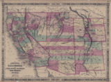 Map of California, with Utah, Nevada, Colorado, New Mexico, and Arizona