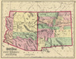 Map of New Mexico and Arizona