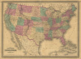 Johnson's Map of the United States, 1864