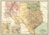 Texas, New Mexico, & Indian Territory, with environs of Chicago & New Orleans, 1873