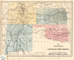 Map with Kansas, Colorado, New Mexico, & Indian Territory