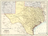 Map of Texas and part of New Mexico