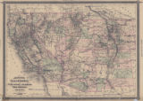Map of California, also Utah, Nevada, Colorado, New Mexico, and Arizona, 1880