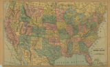 Map of the United States on the...