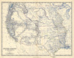 Map of United States of North America (Western States), 1858