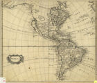 Map of North and South America, 1705