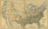Map of the United States of America, Showing the Boundaries of the Union and Confederate...