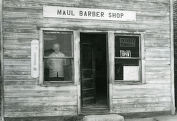 Maul barbershop, Calhan, Colorado, 1976