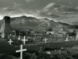 Graveyard and old church, Taos Pueblo, 1985