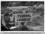 Down With Federal Anarchy Sign
