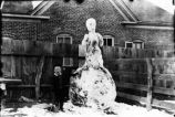 Silver City, A Boy and His Snowman