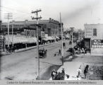 3rd and Railroad (now Central Ave.), looking east in Albuquerque, New Mexico, ca. 1897.
