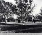 Robinson Park, looking north at the Sisk home, ca. 1880.
