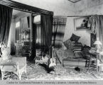 Living room or parlor of a house, ca. 1880
