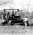 Peace Corps - construction training - men on tractor