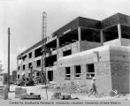 Dormitory - Santa Clara Hall - under construction - forklift