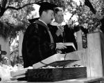 Commencement - President Wernette awarding honorary degree