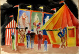 Liliom - set design - carnival