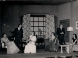 Dangerous Corner - scene from play - four women seated, two men standing
