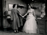 The Country Girl - scene from play - Georgie and the engenue holding hands