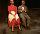 Under Milk Wood - scene from play - elderly man and woman seated