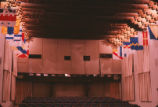 A Man for All Seasons - Rodey theater decoated with flags for production